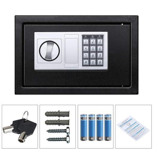 Χρηματοκιβώτιο ασφαλείας SB-20EDA, 3-8 ψηφίων, 20x31x20cm