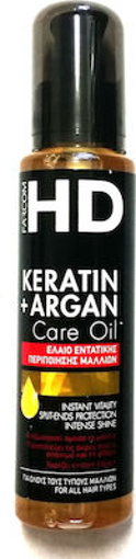 FARCOM HD OIL ΜΑΛΛΙΩΝ 100ml-(KERATIN+ARGAN)
