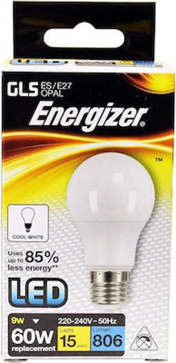 ENERGIZER ΛΑΜΠΑ GLS (LED) Ε27 9w (ΘΕΡΜΟ)