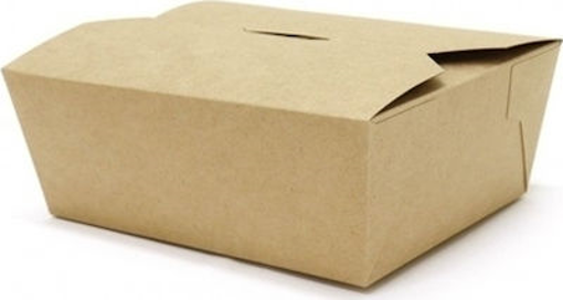 KRAFT DELIVERY BOX No 1 - 46oz - (50τεμ.) - (18x14x6.5cm)