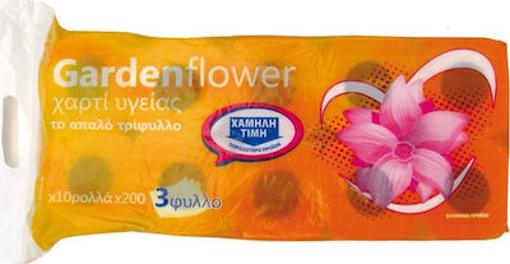 GARDEN FLOWER ΧΑΡΤΙ ΥΓΕΙΑΣ ΠΟΡΤΟΚΑΛΙ (10 ρολλά)