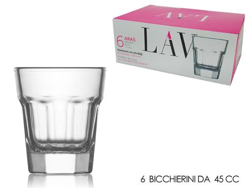 LAV ARAS ΣΦΗΝΑΚΙ GLASS 45cc (ARA209F) - (6τεμ.)