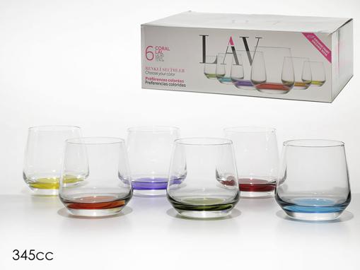 LAV LAL WHISKY GLASS 345cc (LAL361-PT068FC) - (6τεμ.)