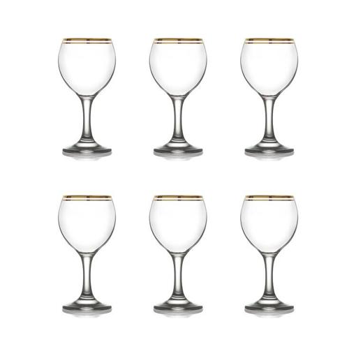 LAV MISKET GOLD WINE GLASS 210cc (MIS549-AY016AF) - (6τεμ.)