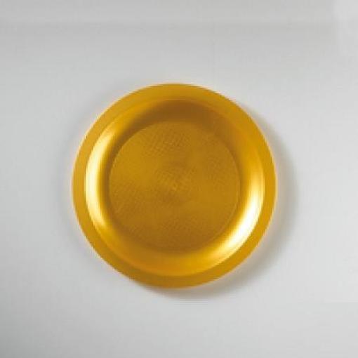 GOLDPLAST (2752-020) - ΠΙΑΤΟ ΣΤΡΟΓΓΥΛΟ ΧΡΥΣΟ PP 185mm - 25τεμ.