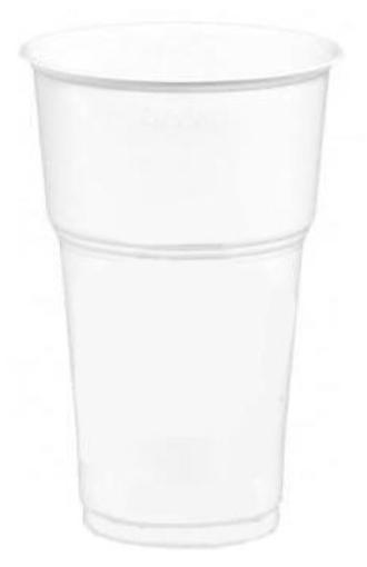 ΠΟΤΗΡΙ ΦΡΑΠΕ ΛΕΥΚΟ 330ml (50τεμ.) - (Νο 508) - (LUX-PLAST)-ΕΙΣΑΓ