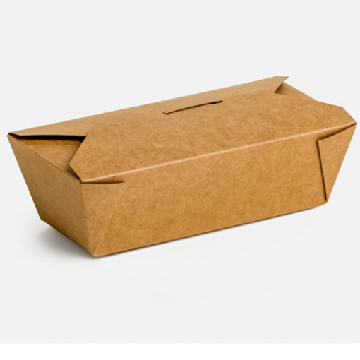 KRAFT DELIVERY BOX No 6 - (50τεμ.) - (17x14x6.5cm)(#8)