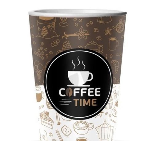 ΠΟΤΗΡΙ ΧΑΡΤΙΝΟ COFFEE TIME (16οz) - (50τεμ.)
