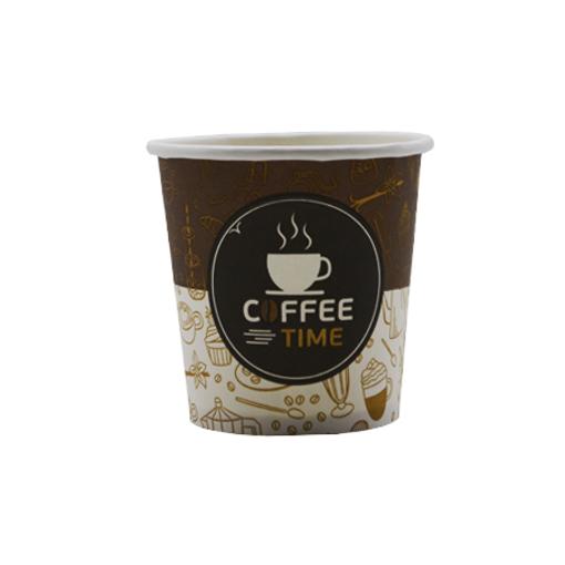 ΠΟΤΗΡΙ ΧΑΡΤΙΝΟ COFFEE TIME (4οz) - (100τεμ.)