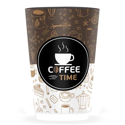 ΠΟΤΗΡΙ ΧΑΡΤΙΝΟ COFFEE TIME (DOUBLE WALL)-(8οz) - (25τεμ.)