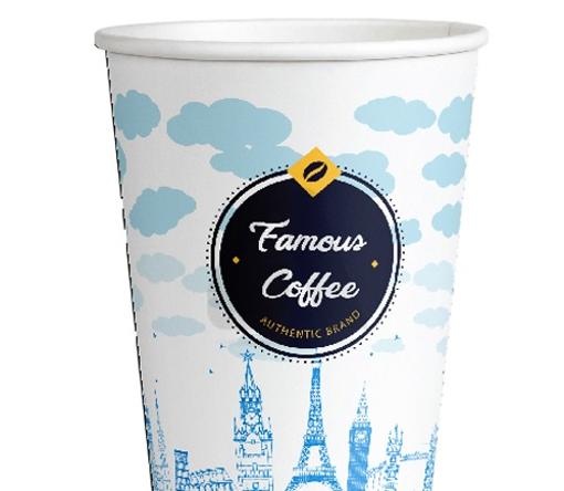 ΠΟΤΗΡΙ ΧΑΡΤΙΝΟ FAMOUS COFFEE (4οz) - (50τεμ.)