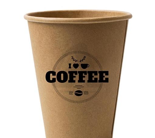 ΠΟΤΗΡΙ ΧΑΡΤΙΝΟ KRAFT BLACK COFFEE (8οz) - (50τεμ.)