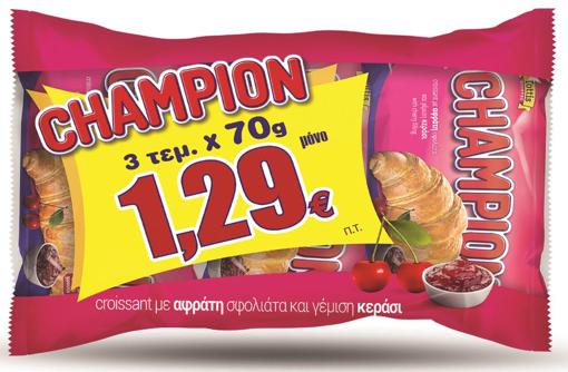 Champion Κρουασάν Με Κεράσι 3X70gr