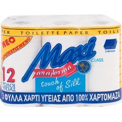 MAXI ΧΑΡΤΙ ΥΓΕΙΑΣ 3φυλλο 80gr. - (12 ΡΟΛΑ)